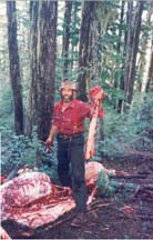 Author and another backstrap